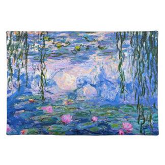 Monet - Water Lilies 1919 artwork Place Mats