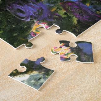Monet - Water Lilies, Blue Indigo Jigsaw Puzzle