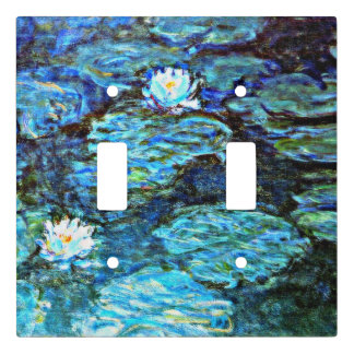 Monet - Water Lilies (blue) Light Switch Cover