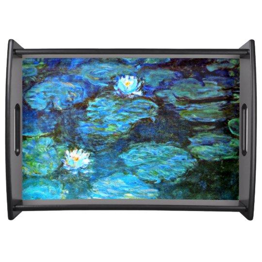 Monet - Water Lilies (blue) Serving Platter