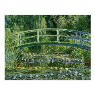 Monet Water Lilies Japanese Bridge Postcard