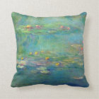 Monet Water Lilies Throw Pillow