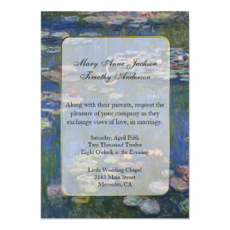 Monet Water Lilies Wedding Invitation