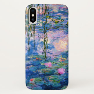 Monet Water Lilies with Pond Reflections iPhone X Case