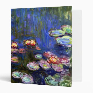 Monet Water Lily Pond Binder