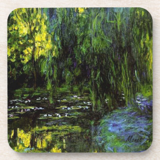 MONET Water Lily Pond Coaster WEEPING WILLOWS