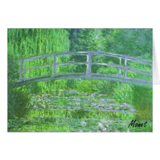 MONET Water Lily Pond NOTE CARD Symphony in Green