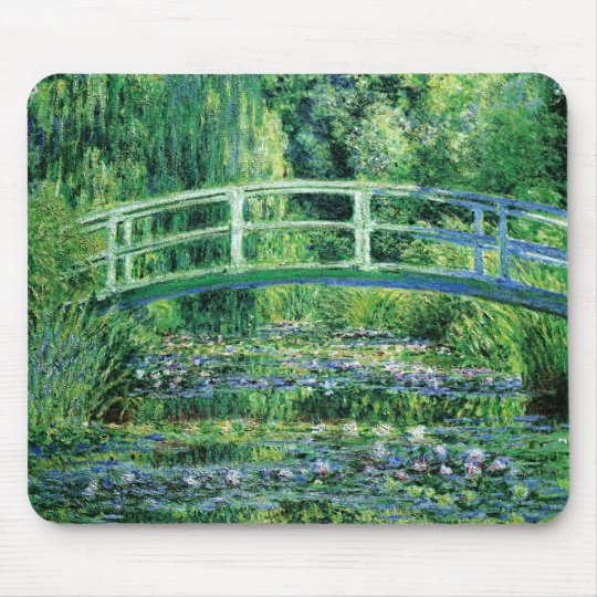 Monet Waterlilies and Japanese Bridge Mousepad