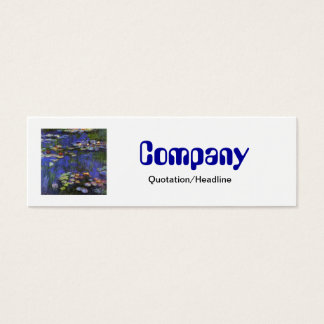 Monet Waterlilies Skinny Business Card