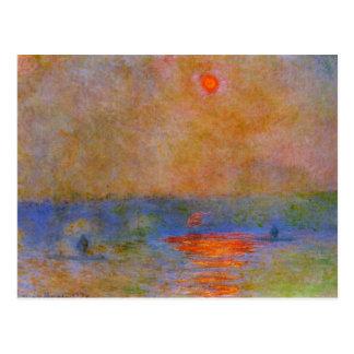 Monet - Waterloo Bridge, Sunlight in the Fog Postcard
