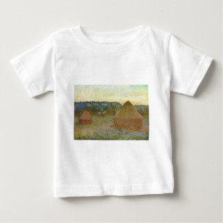 Monet - Wheatstacks Classic Painting Baby T-Shirt