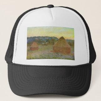 Monet - Wheatstacks Classic Painting Trucker Hat