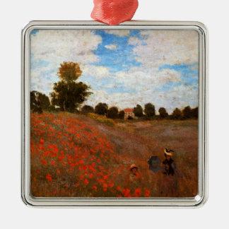 Monet - Wild Poppies Metal Ornament