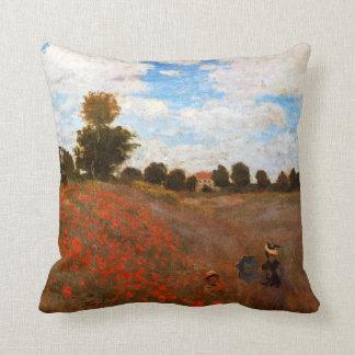 Monet - Wild Poppies Throw Pillow