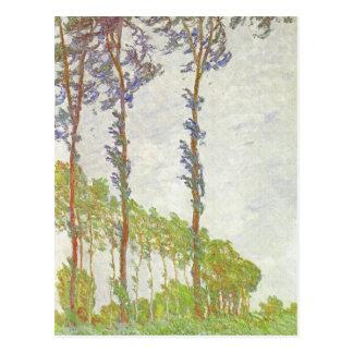 Monet Wind Effect Poplars Vintage Landscape Postcard