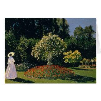 Monet: Woman in a Garden Card