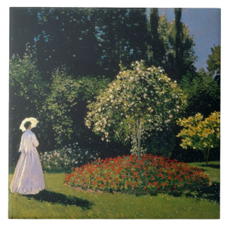 Monet: Woman in a Garden Tile