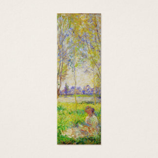 Monet Woman Seated Under The Willows Fine Art Mini Business Card