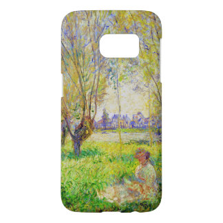 Monet Woman Seated Under The Willows Fine Art Samsung Galaxy S7 Case