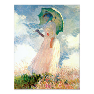 Monet Woman With A Parasol Invitations