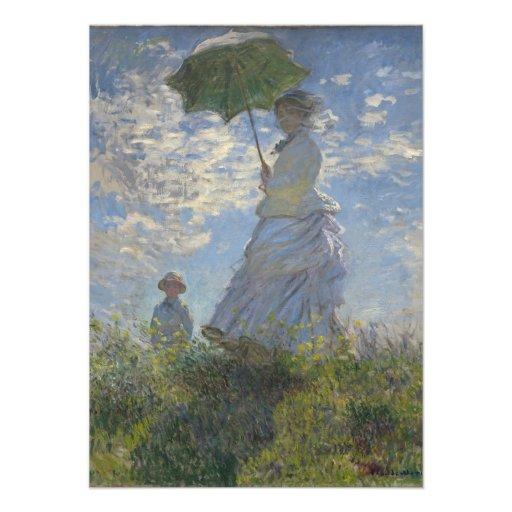 Monet Woman With Parasol Announcements