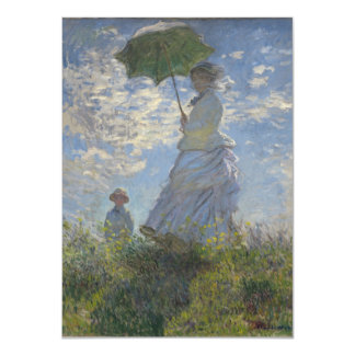 "Monet Woman With Parasol 4.5"" X 6.25"" Invitation Card"