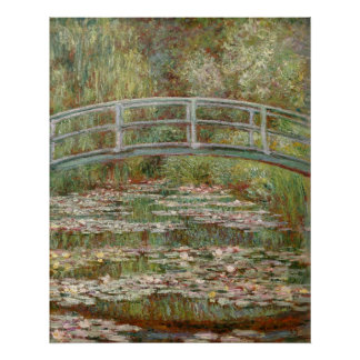 "Monet's ""Bridge Over a Pond of Water Lilies"" 1899 Poster"
