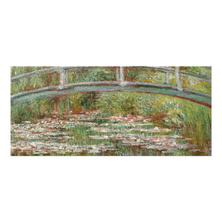 "Monet's ""Bridge Over a Pond of Water Lilies"" 1899 Rack Card"