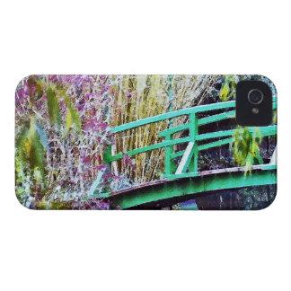 Monet's Bridge with Flowers iPhone 4 Case-Mate Case