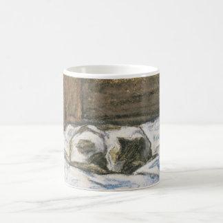 Monet's Cat Sleeping on a Bed Coffee Mug