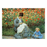 Monet's Famous Painting: Camille Monet and Child Print