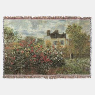 Monet's Garden at Argenteuil by Claude Monet Throw Blanket