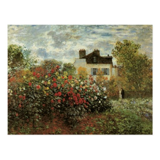 Monet's Garden at Argenteuil Vintage Impressionism Post Card