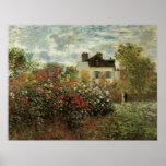 Monet's Garden at Argenteuil Vintage Impressionism Posters