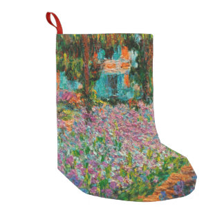 Monets Garden At Giverny Small Christmas Stocking