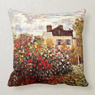 Monet's Garden in Argenteuil Throw Pillow
