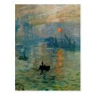 Monet's Impression Sunrise (soleil levant) - 1872 Postcard