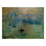 Monet's Impression Sunrise (soleil levant) - 1872 Poster