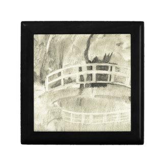 Monet's Japanese Bridge- Black and White Gift Box