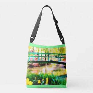 Monet's Japanese Garden Watercolor Crossbody Bag