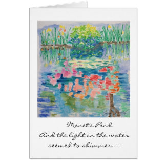 Monet's Pond Card--Watercolor by Susan Meyer Card