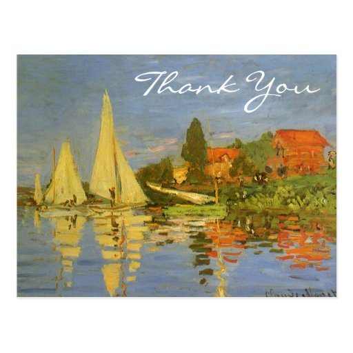 Monet's Regatta at Argenteuil Postcards