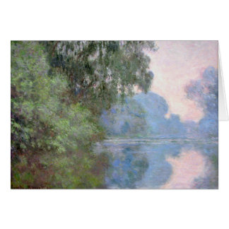 Monet's View Of The Seine Card