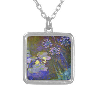 Monet's Water Lilies Silver Plated Necklace