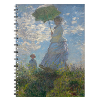 Monet's Woman with a parasol Spiral Notebook