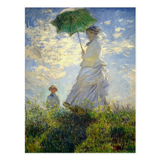 Monet's Woman with a Parasol (The Stroll / Walk) Postcard