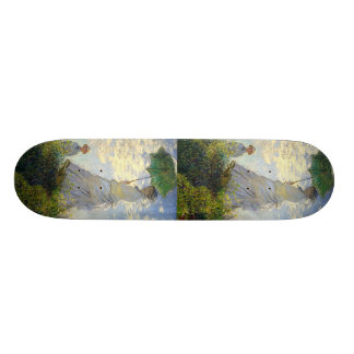 Monet's Woman with a Parasol (The Stroll / Walk) Skate Board Deck