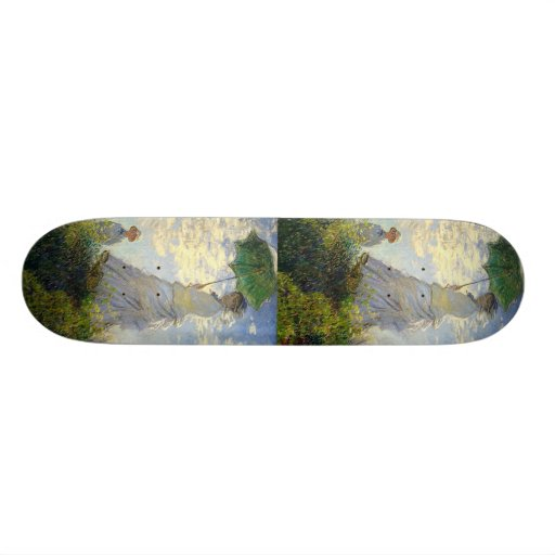 Monet's Woman with a Parasol (The Stroll / Walk) Skate Deck