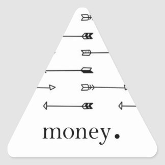 Money arrow print pattern arrows hipster quote triangle sticker