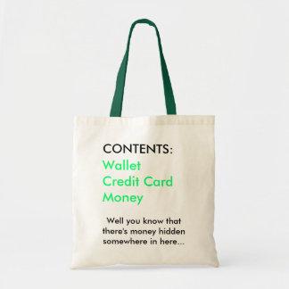 Money bag` tote bag